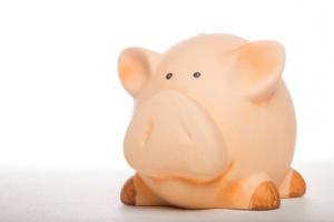 In Aktien investieren Sparschwein